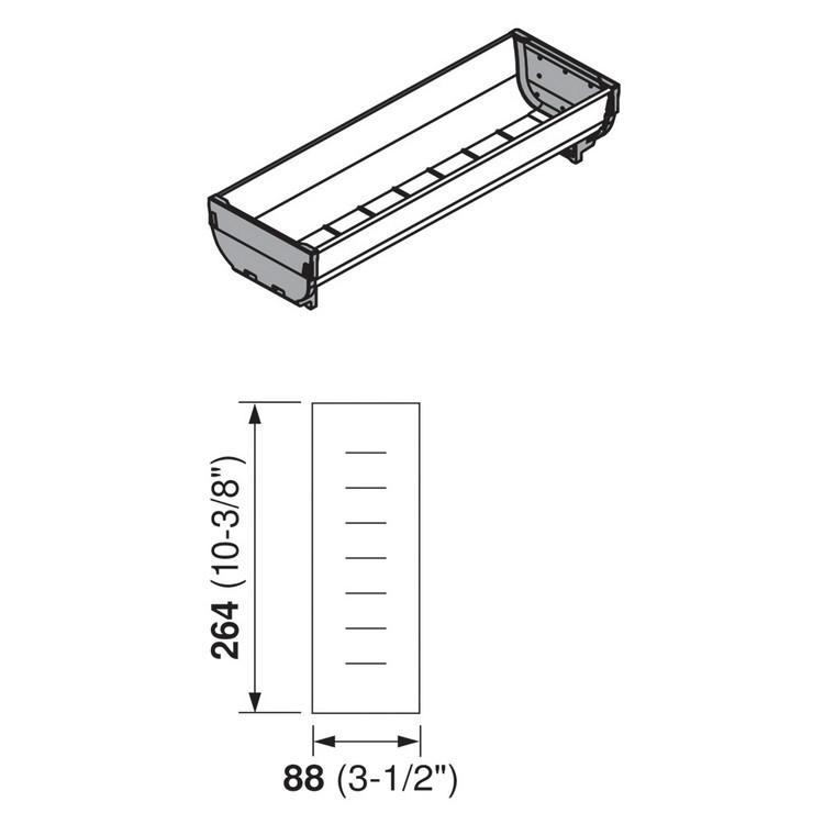 Blum ZSI.030SI 10-3/8 L Cutlery Tray - Long, Single Tray :: Image 20