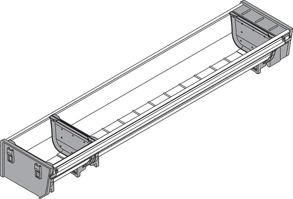 Blum ZSI.500BI1N 20in Single Tiered Cutlery Organizer, Inox :: Image 60