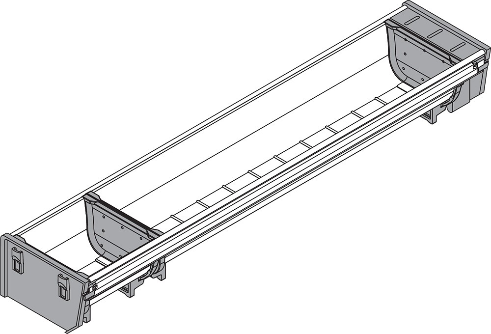 Blum ZSI.500BI1N 20in Single Tiered Cutlery Organizer, Inox :: Image 10