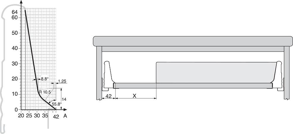 Blum ZSI.550FI1 22in Single Tiered Utensil Organizer, Inox :: Image 100
