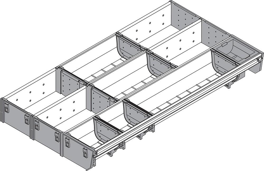 Blum ZSI.550MI3 22in 3-Tiered Cutlery/Utensil Organizer, Inox :: Image 80