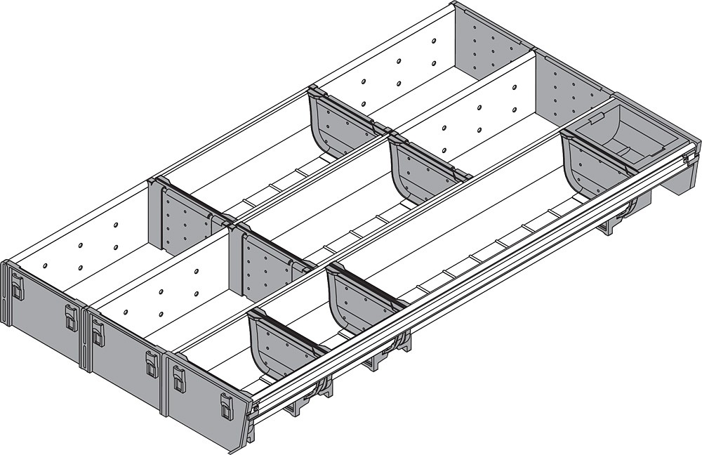 Blum ZSI.550MI3 22in 3-Tiered Cutlery/Utensil Organizer, Inox :: Image 10