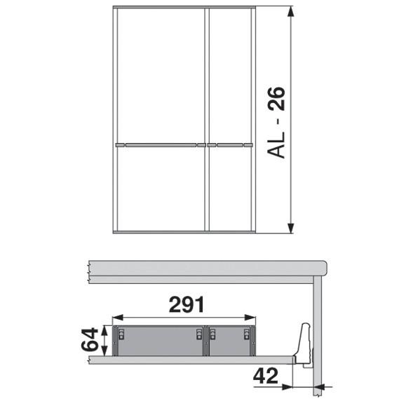 Blum ZSI.550FI3 22in 3-Tiered Utensil Organizer, Inox :: Image 110