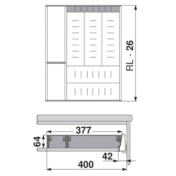 Blum ZSI.500KI4A 20in 4-Tiered Utensil Organizer, Inox :: Image 70