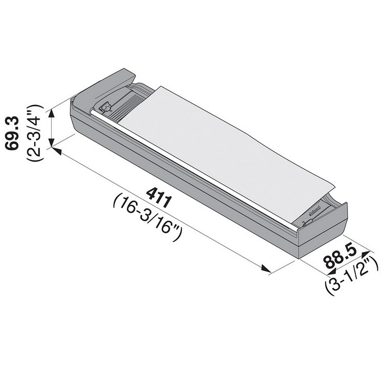 Blum ZSZ.02F1 16-3/16 L Aluminum Foil Dispenser :: Image 10