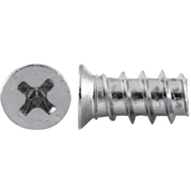 Grass 83001-43 Euro Screw, Flat Head Phillips Drive, Blunt Point, Coarse Thread, 7.5mm long, Nickel, Bulk-500 :: Image 10