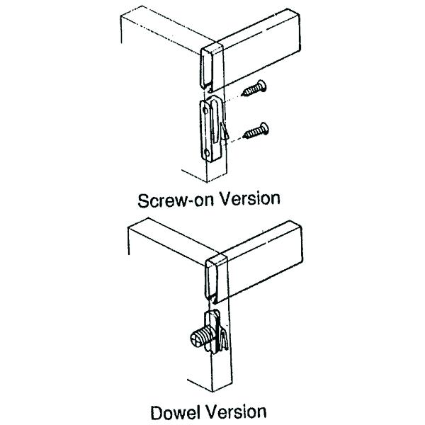 Grass 10mm Zargen Front Railing Clip, Dowel, White, 96360-39 :: Image 10
