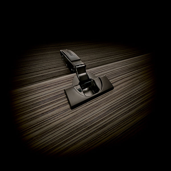 Blum 71T7530N-ONYX, 155 Degree Onyx Black CLIP top BLUMOTION Soft-Close Hinge, Full Overlay, Dowel :: Image 20