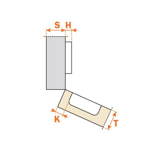 Salice C27BE99 30° Positive Angle Specialty Application Hinge, Self-Closing, Rapido :: Image 20