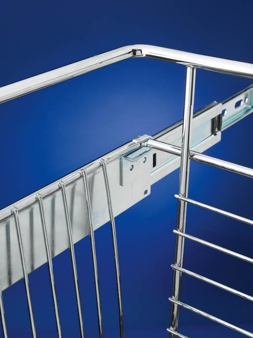 Rev-A-Shelf CB-182018CR-1 - Wire Basket 20inD Closet Pullout Basket, Chrome :: Image 20