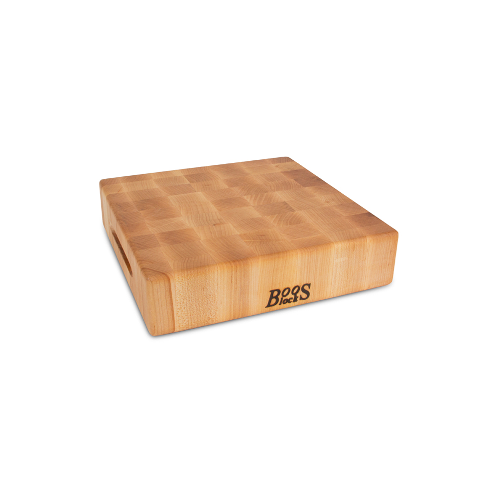 John Boos CCB151503 15 L Cutting Board with Hand Grips, Chopping Block Collection, Maple Series, Reversible, 15 L x 15 W x 3in Thick :: Image 10