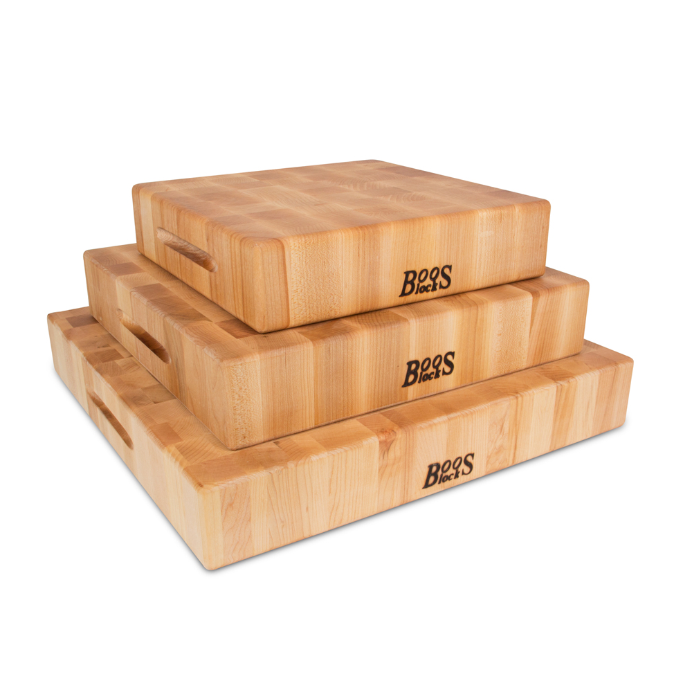 John Boos CCB151503 15 L Cutting Board with Hand Grips, Chopping Block Collection, Maple Series, Reversible, 15 L x 15 W x 3in Thick :: Image 20