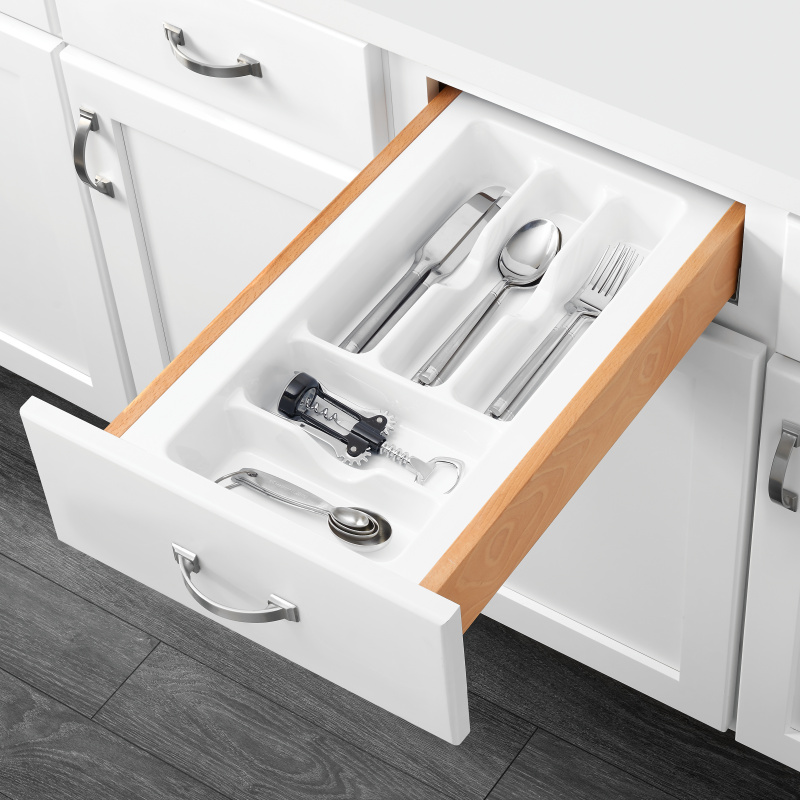 "11-1/2"" Cutlery Drawer Insert, Plastic, White, Rev-a-shelf  CT-1W-10 :: Image 20"