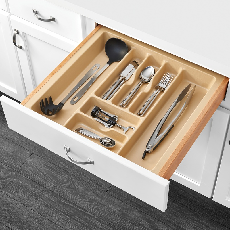 "21-7/8""W Cutlery Drawer Insert, Plastic, Almond, Rev-a-shelf  CT-4A-52 :: Image 20"