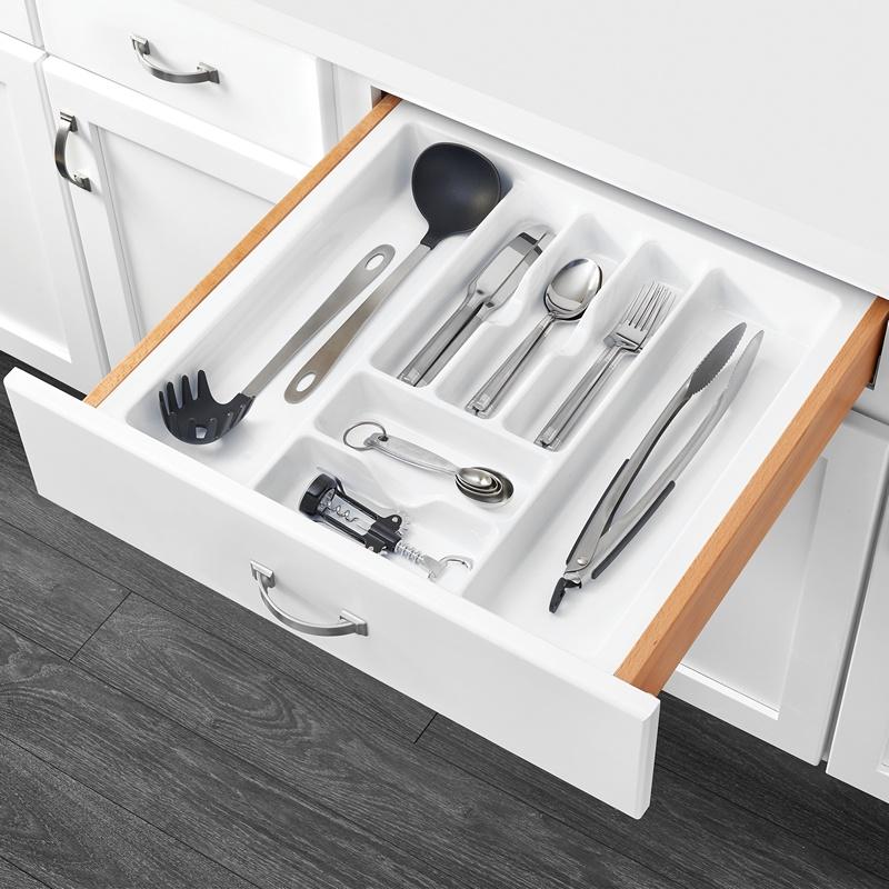 "21-7/8""W Cutlery Drawer Insert, Plastic, White, Rev-a-shelf  CT-4W-10 :: Image 20"