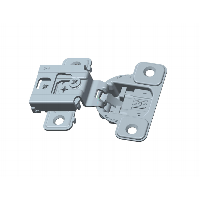"""Salice CUP34D9R 106° Soft-Closing Hinge, 3/4"""" Overlay, 3 Cam, Screw-On :: Image 10"""