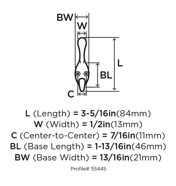 Amerock H55445ORB, Zinc Coat Hook, Transitional Series, Double Prong-2-1/2 Proj, Oil Rubbed Bronze :: Image 10