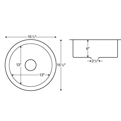 "Karran E-312, 15-1/4"" x 15-1/4"" Stainless Steel Undermount Single Bowl, Stainless Steel, ADA :: Image 20"