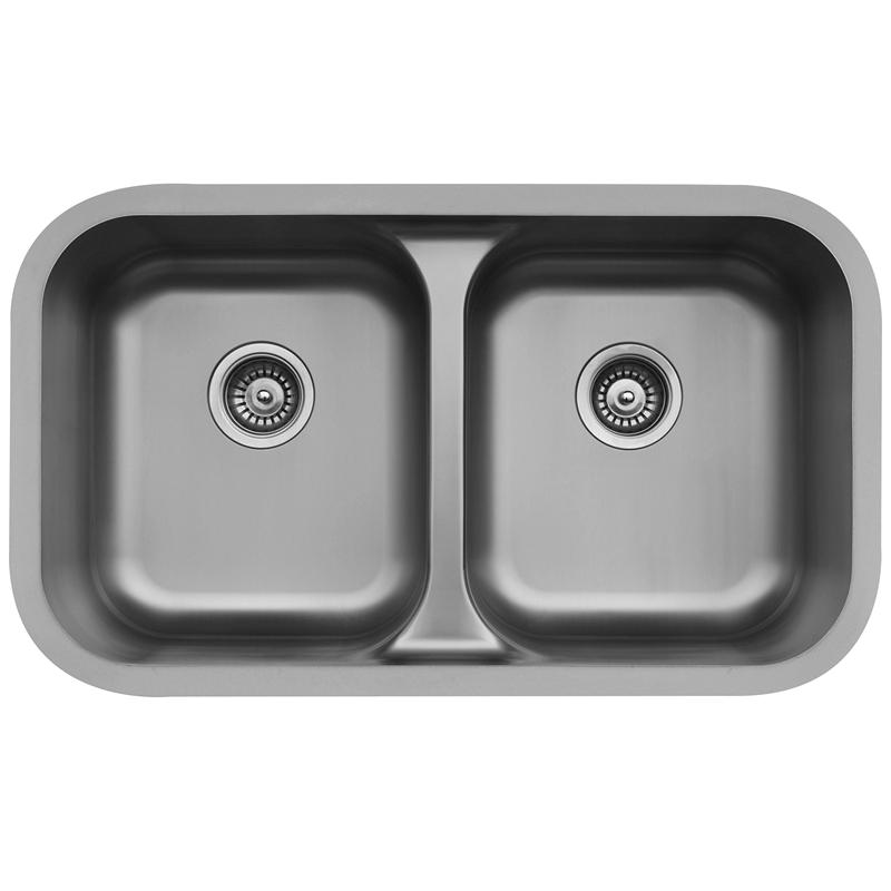 "Karran E350, Edge 32-1/4"" x 19"" Undermount Kitchen Sink, Double equal Bowls :: Image 10"