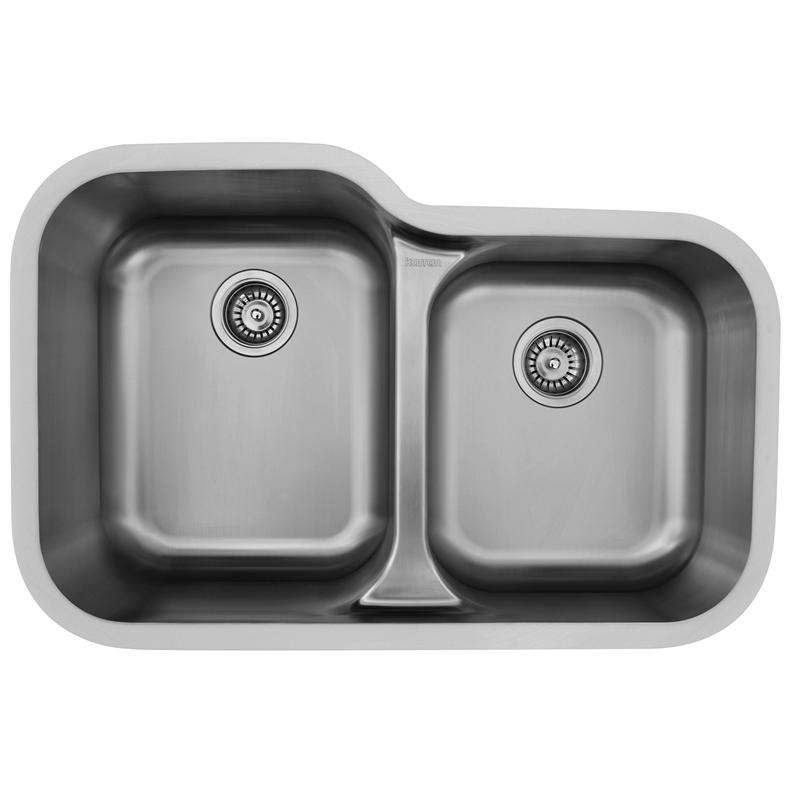 "Karran E360R, Edge 32"" x 21-1/2"" Undermount  Kitchen Sink, Large/Small Bowls :: Image 10"