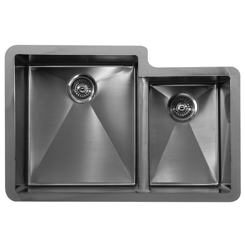 "Karran E560R, Edge 32"" x 21-1/2"" Undermount Kitchen Sink, Double Large/Small Bowls :: Image 10"