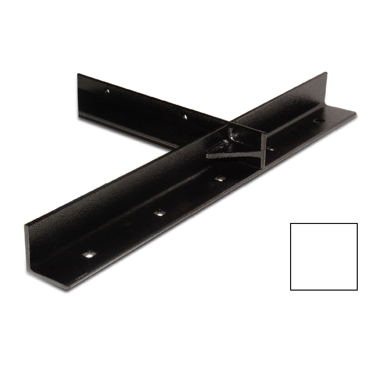 "WE Preferred B08-ECH12-6K4, 12""x20"" Extended Concealed Bracket, White, Packed 2 Each :: Image 10"