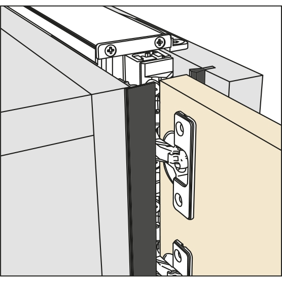 Salice Pocket Door Front Cover Kit, Black, YE55KIT0202 :: Image 10