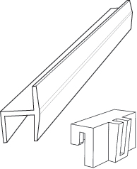"5/8"" x 8' Pendaflex Rail for Hanging File Rail Systems, Plastic, White, Custom Pastics :: Image 10"