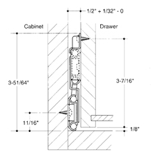 "12"" Side Mount 150 lb Ball Bearing Slide, Full Extension, Anochrome, Knape and Vogt 8500-99 12 :: Image 10"