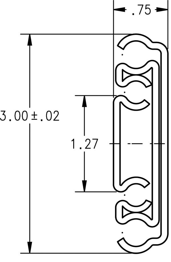 """44"""" Side Mount 500 lb Ball Bearing Slide, Full Extension, Zinc, Knape and Vogt 8900B 44 :: Image 10"""