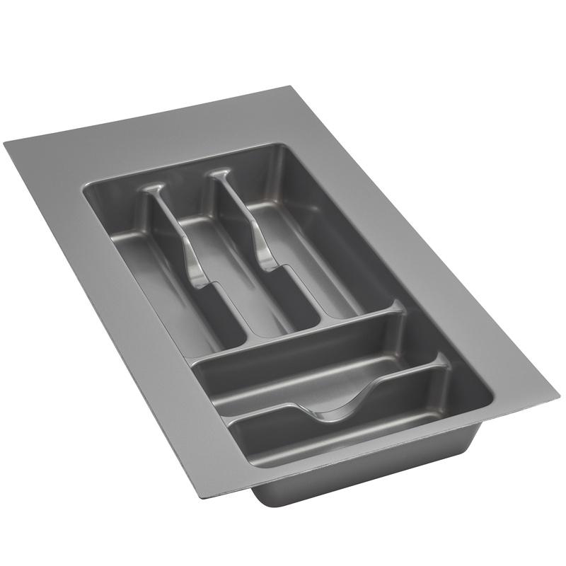 "11-1/2"" Cutlery Drawer Insert, Plastic, Glossy Silver, Rev-a-shelf  GCT-1S-52 :: Image 10"