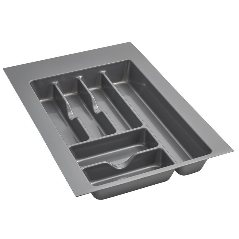 "14-1/4"" Cutlery Drawer Insert, Plastic, Glossy Silver, Rev-a-shelf  GCT-2S-52 :: Image 10"