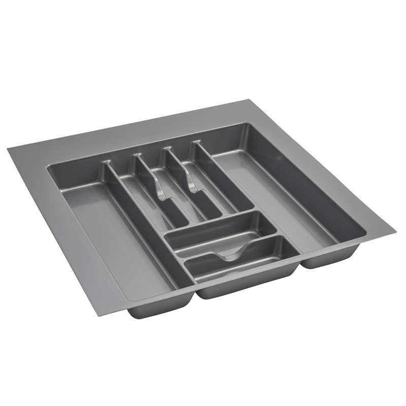 "21-7/8""W Cutlery Drawer Insert, Plastic, Glossy Silver, Rev-a-shelf  GCT-4S-52 :: Image 10"