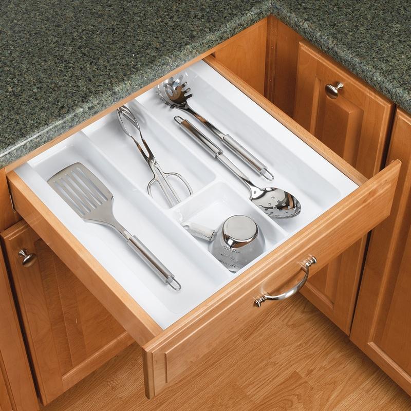 """21-7/8"""" Utensil Drawer Insert, Plastic, Glossy White, Rev-a-shelf  GUT-18W-10 :: Image 20"""