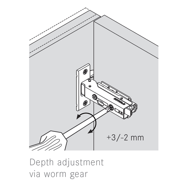 Grass F045138279228 110 Degree Tiomos Self-close Hinge, Full Overlay, Dowel, 42mm Boring Pattern :: Image 40
