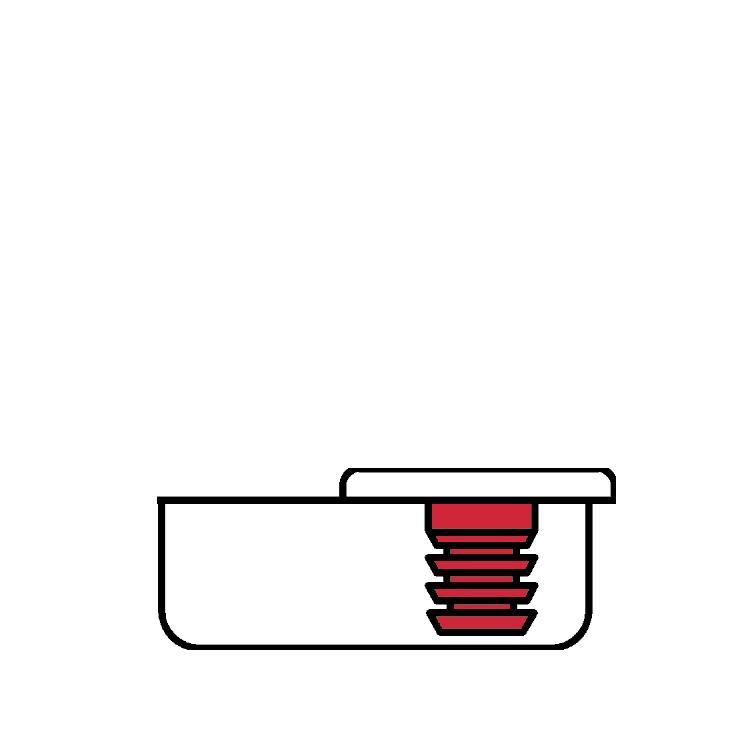 Grass F045138321217 160 Degree Tiomos Self-close Hinge, Overlay, Dowel, 42mm Boring Pattern :: Image 80