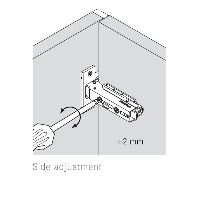 Grass F045138281228 110 Degree Tiomos Self-close Hinge, Half Overlay, Dowel, 42mm Boring Pattern :: Image 30