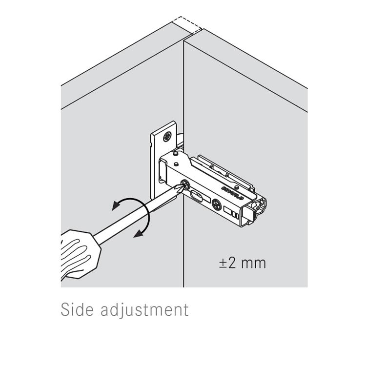 Grass F045138307228 120 Degree Tiomos Self-close Hinge, Full Overlay, Dowel, 42mm Boring Pattern :: Image 40