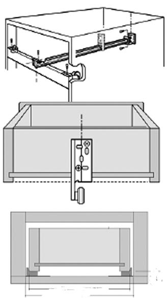 "KV 1175B ZC 22 Bulk-50 Sets, 22"" Center Mount 3/4 Extension Nylon Roller Drawer Slide, 50lb, Knape and Vogt :: Image 10"