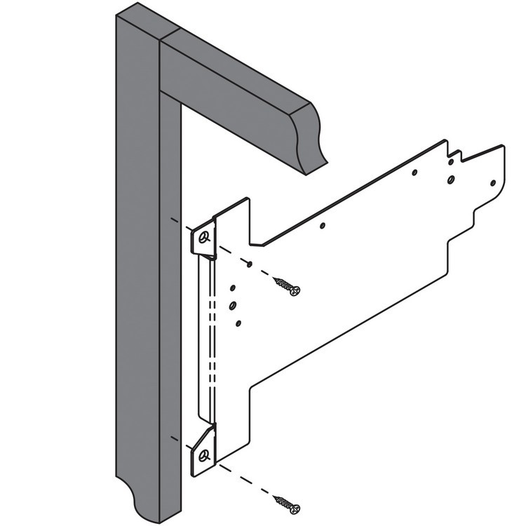 Blum 20F6001 AVENTOS HF Face Frame Mounting Bracket Set :: Image 30
