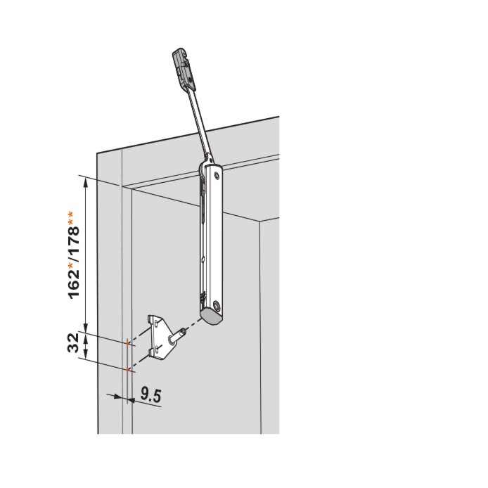 Blum 20K5501 AVENTOS HK-XS Cabinet Mounting Plates for Face Frame Cabinets :: Image 40