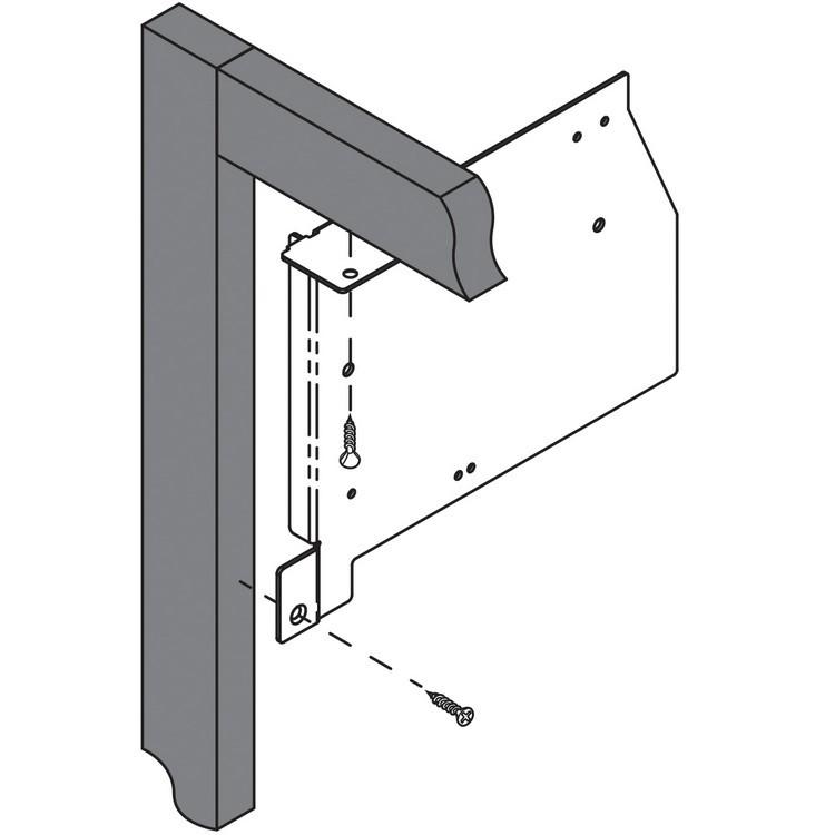 Blum 20K6001 AVENTOS HK Face Frame Mounting Bracket Set :: Image 30