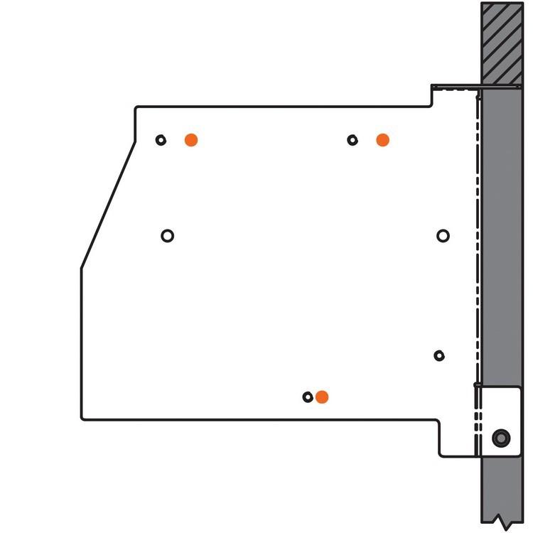 Blum 20K6001 AVENTOS HK Face Frame Mounting Bracket Set :: Image 50