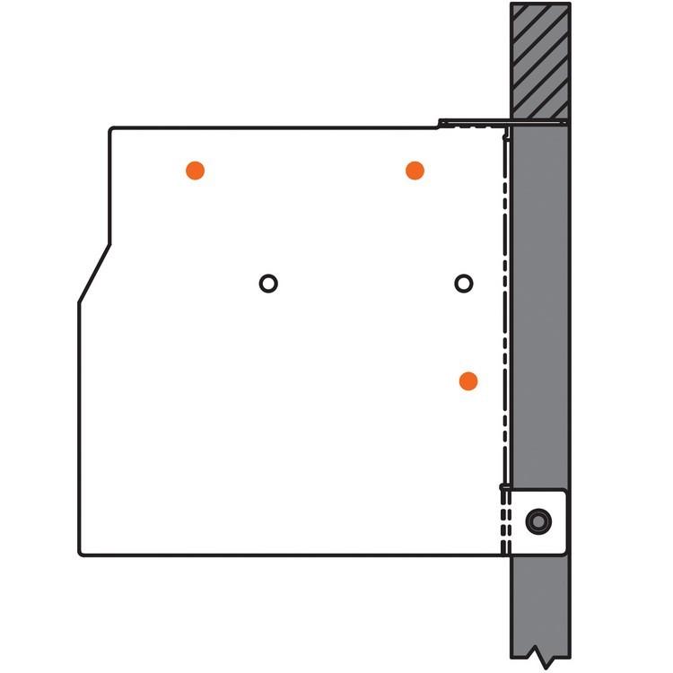 Blum 20K6A01 AVENTOS HK-S Face Frame Mounting Bracket Set :: Image 50