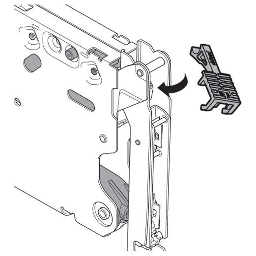 Blum 20K7A41 Aventos HKS 100 Degree Angle Restriction Clip :: Image 10
