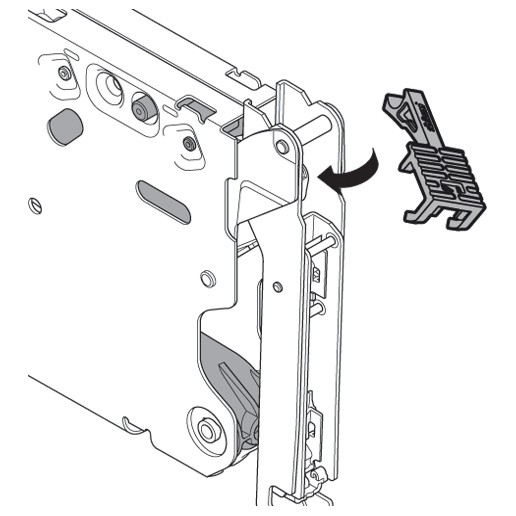 Blum 20K7A41 Aventos HKS 100 Degree Angle Restriction Clip :: Image 20