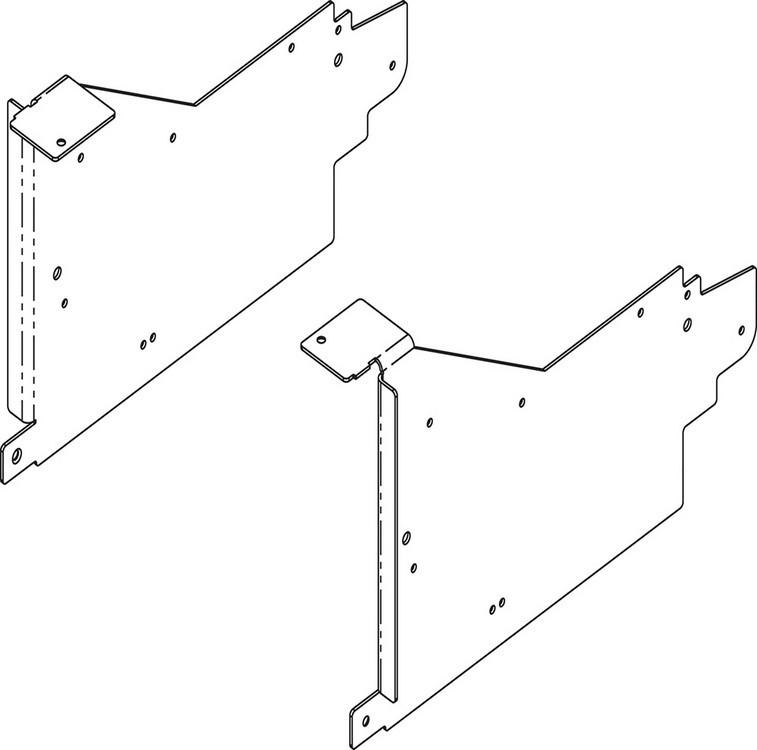 Blum 20L6001 Aventos HL Corner Appliance Garage Bracket, Zinc :: Image 30