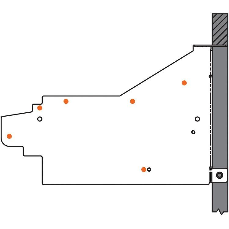 Blum 20L6001 Aventos HL Corner Appliance Garage Bracket, Zinc :: Image 40