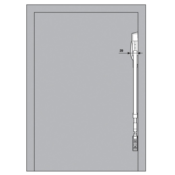 Blum 20F2200.N5 Aventos HF Bi-Fold Lift Mechanism, Power Factor 85 -230 :: Image 130