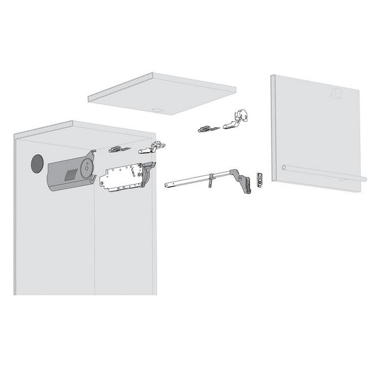 Blum 20F8000.NA Aventos HF Cover Set for List Mechanism, Right & Left Cover Plate :: Image 10